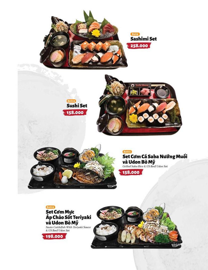 Menu Sushi Masa - Đường 3/2 9