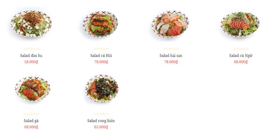 Menu Sushi Tony - Nguyễn Công Trứ 1