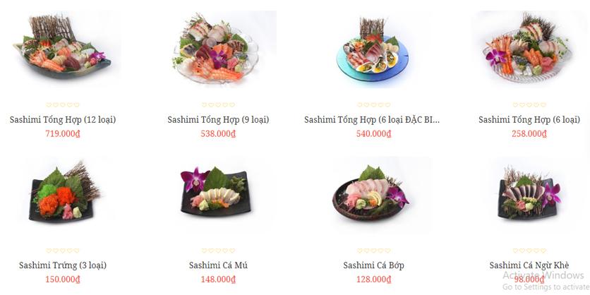 Menu Sushi Tony - Nguyễn Công Trứ 2