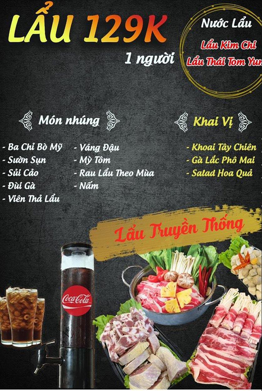 Menu Buffet Lẩu TacaTaca - Nguyễn Khoái 1