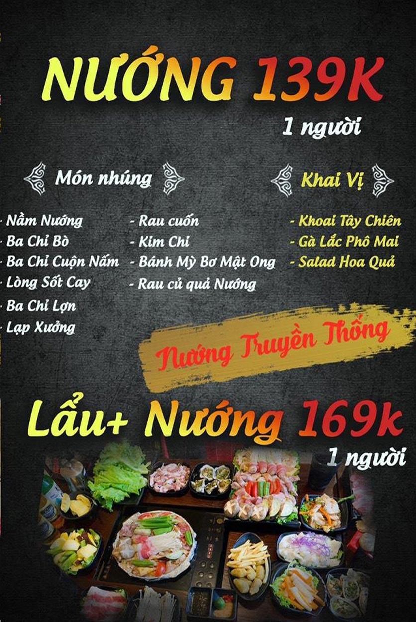Menu Buffet Lẩu TacaTaca - Nguyễn Khoái 2