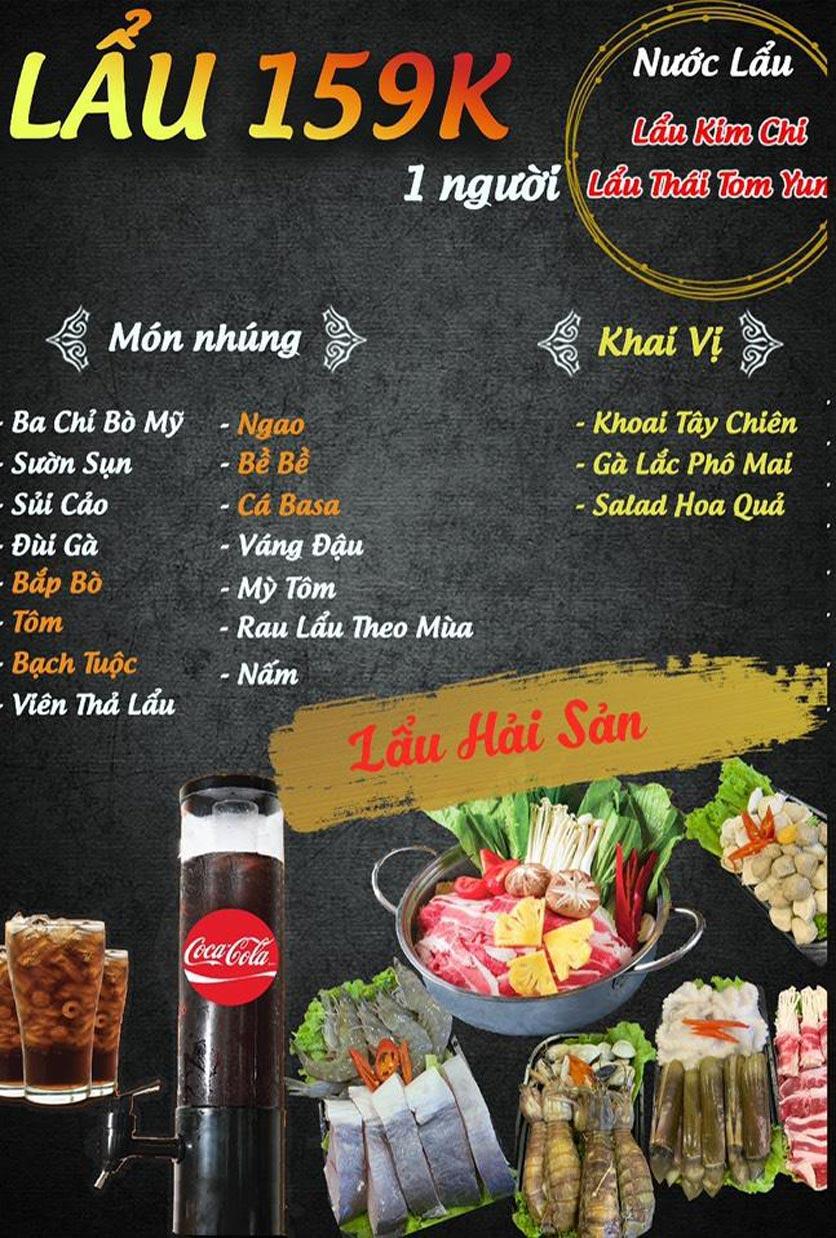 Menu Buffet Lẩu TacaTaca - Nguyễn Khoái 3