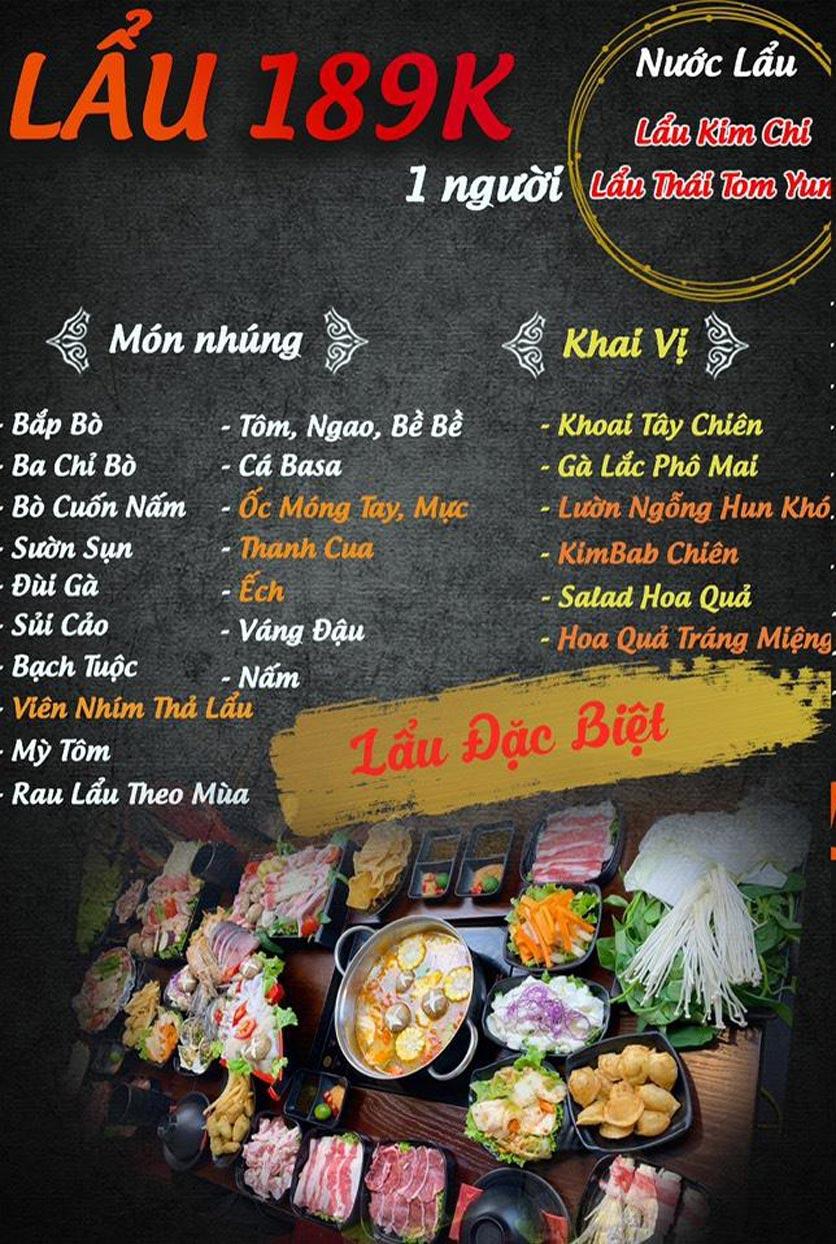 Menu Buffet Lẩu TacaTaca - Nguyễn Khoái 5