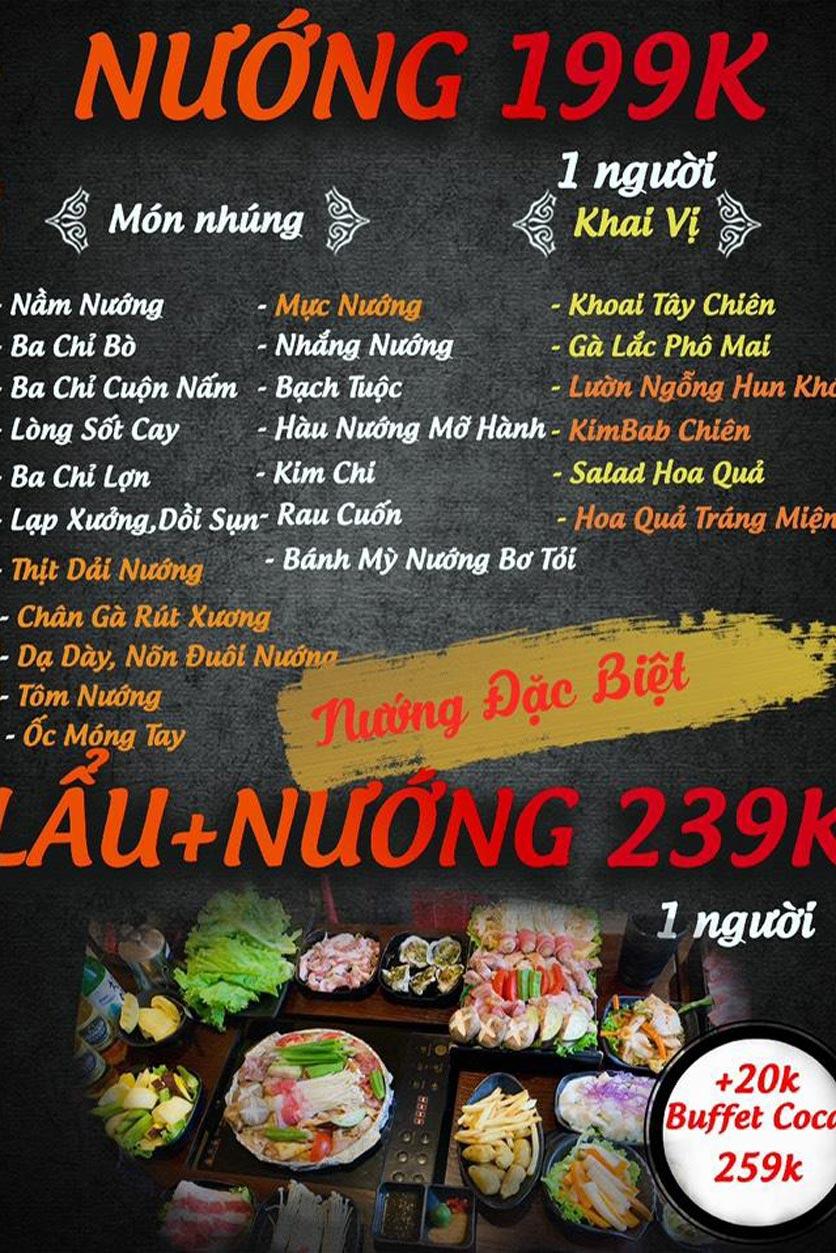 Menu Buffet Lẩu TacaTaca - Nguyễn Khoái 6
