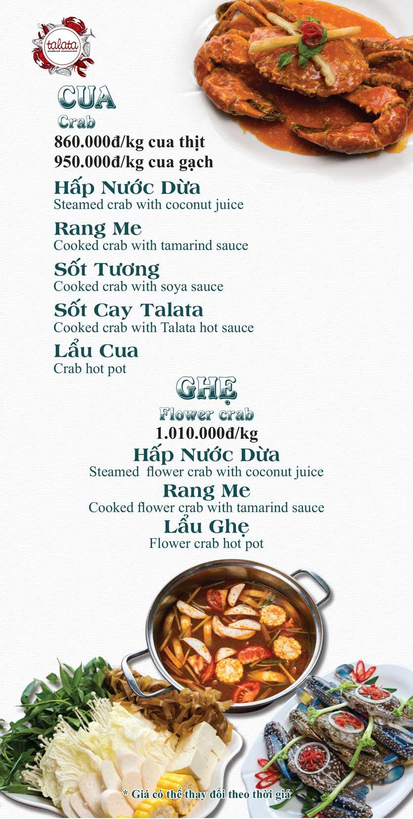 Menu Hải Sản Talata - Huỳnh Thúc Kháng 10