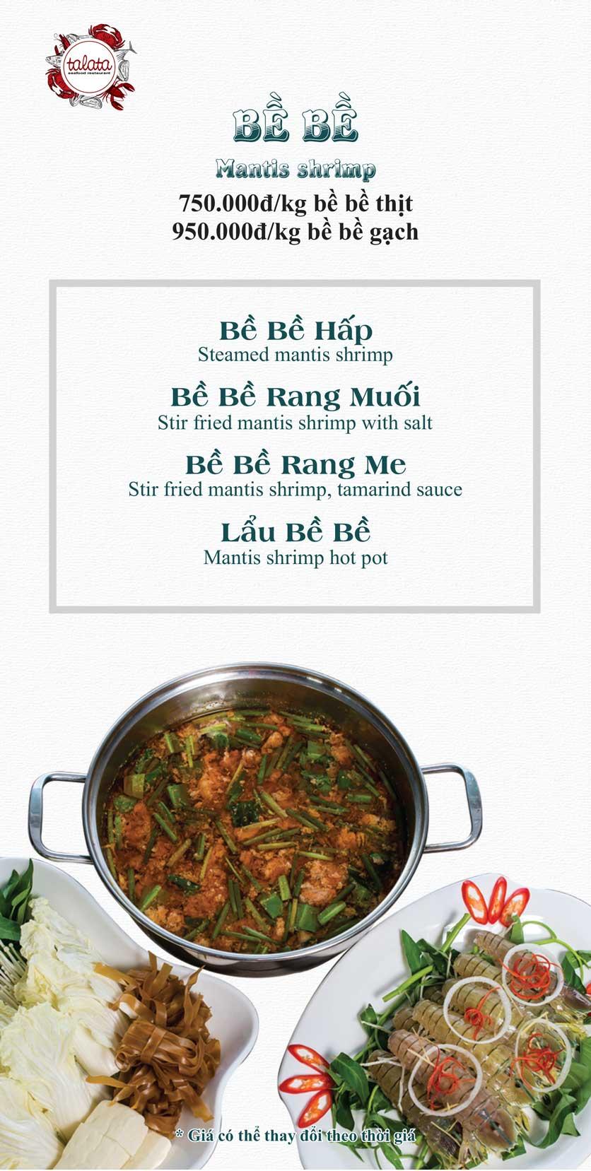 Menu Hải Sản Talata - Huỳnh Thúc Kháng 14