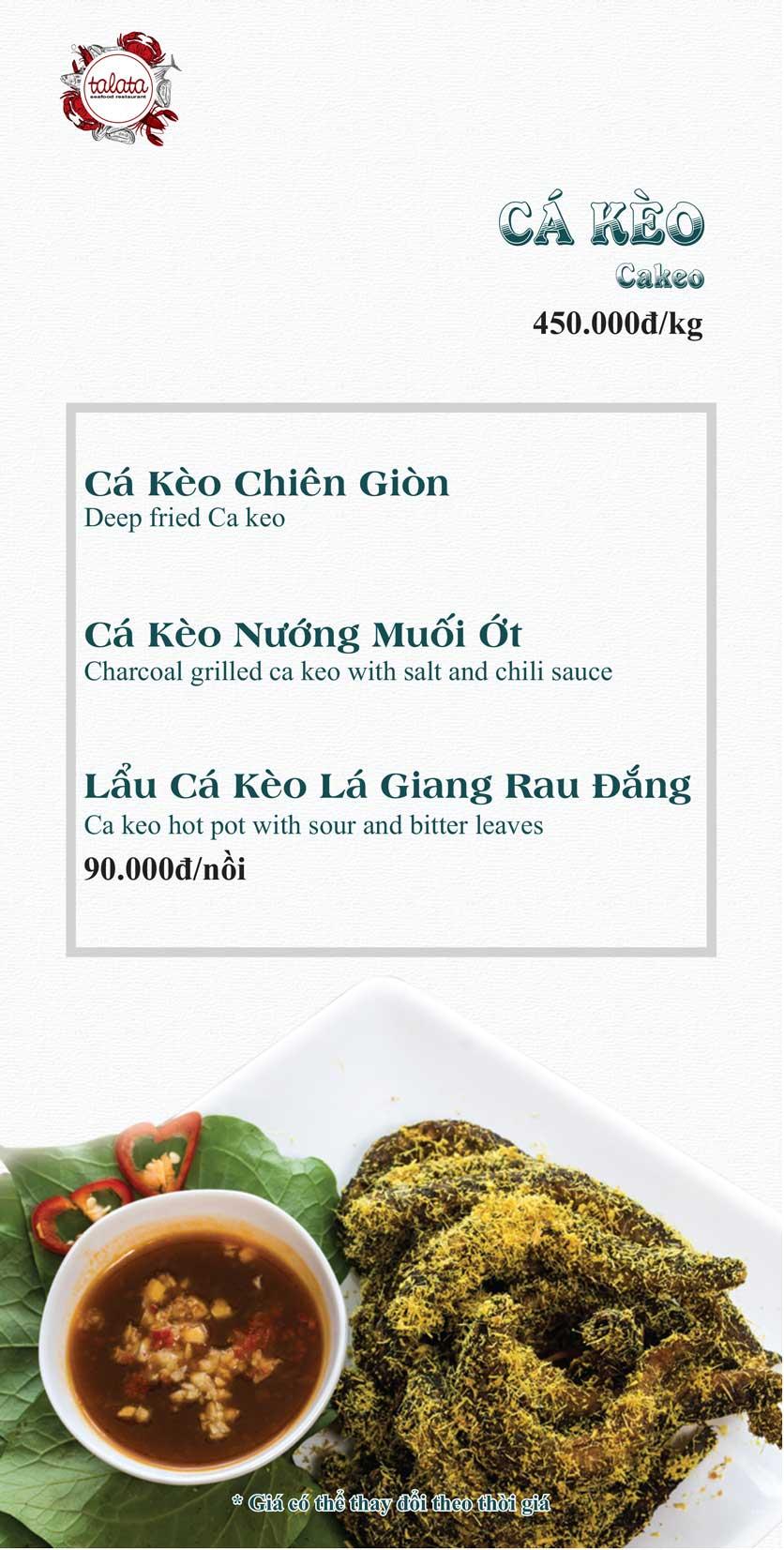 Menu Hải Sản Talata - Huỳnh Thúc Kháng 17