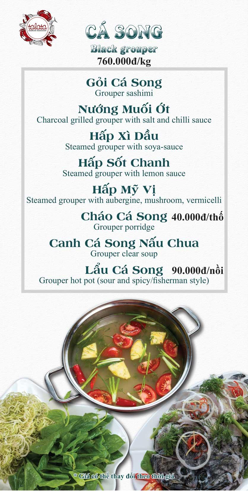 Menu Hải Sản Talata - Huỳnh Thúc Kháng 19