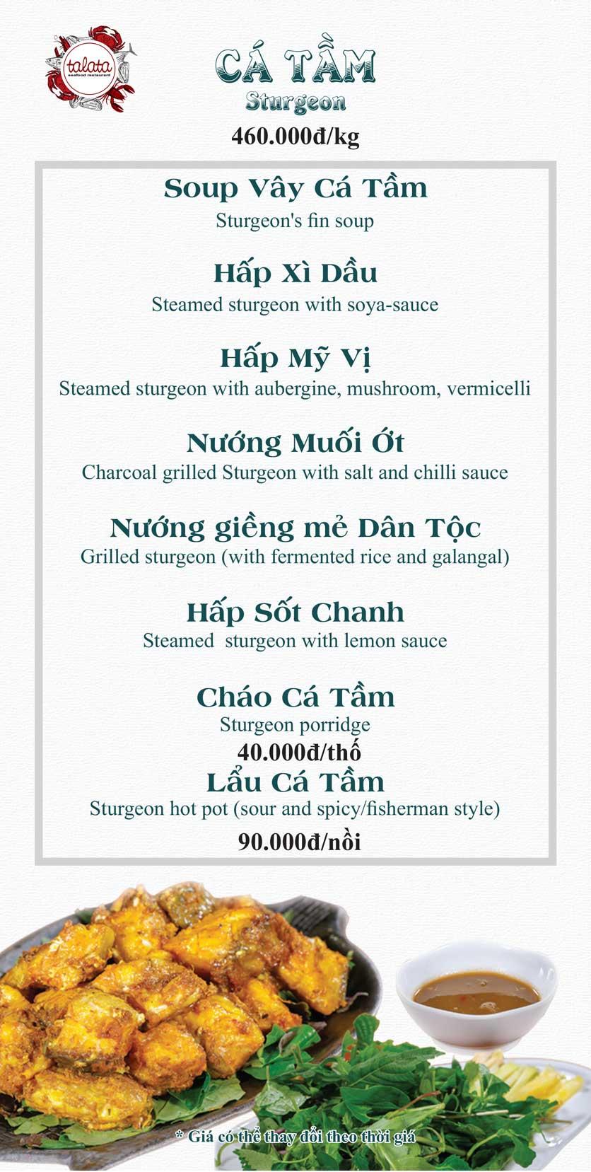 Menu Hải Sản Talata - Huỳnh Thúc Kháng 20