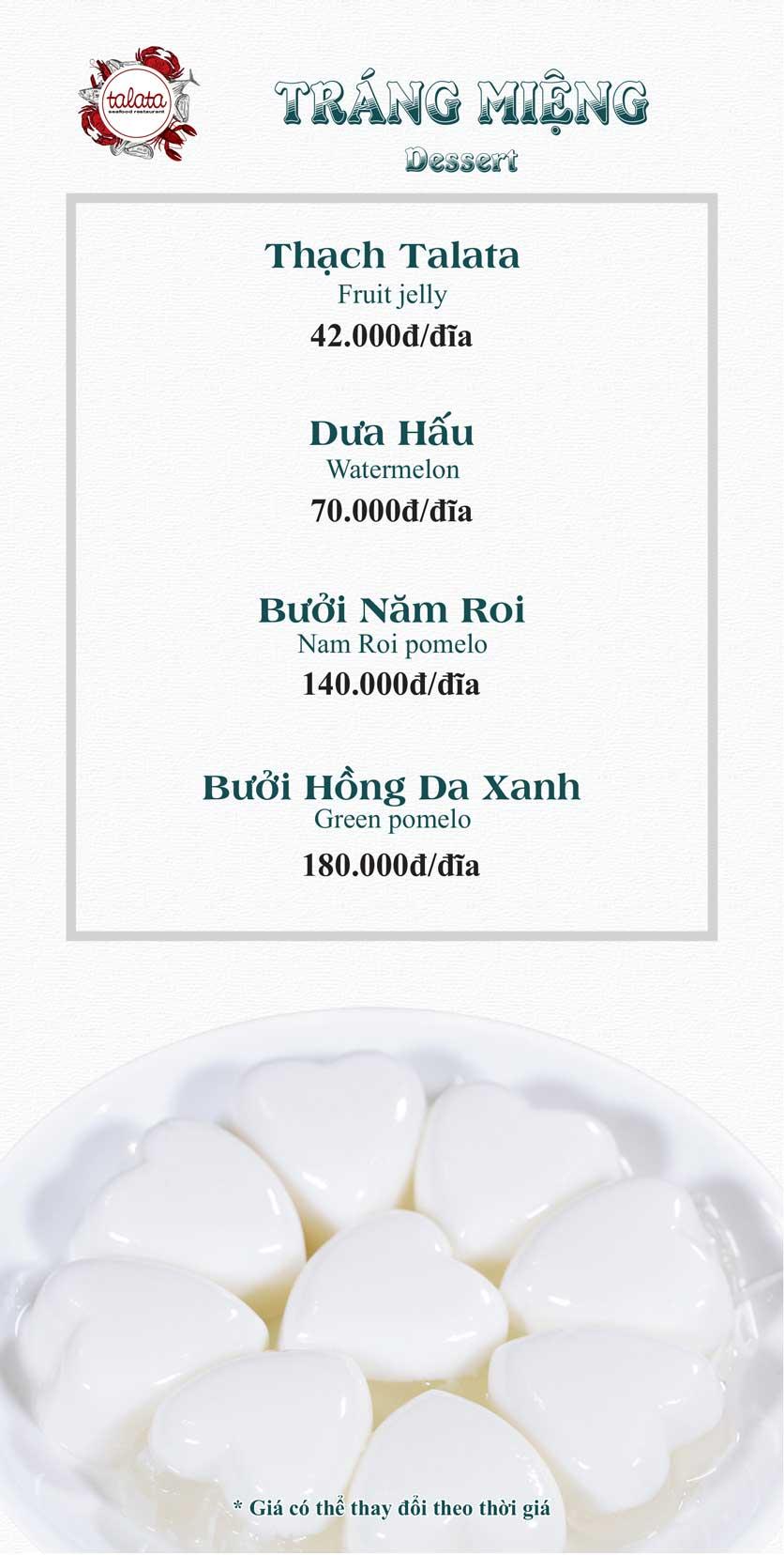 Menu Hải Sản Talata - Huỳnh Thúc Kháng 27