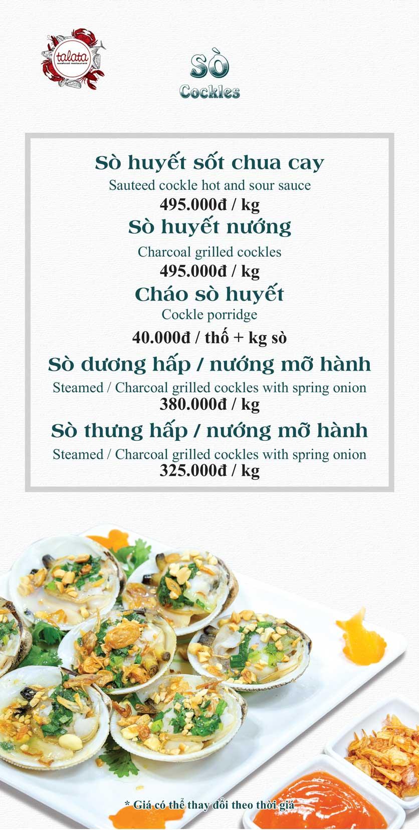 Menu Hải Sản Talata - Huỳnh Thúc Kháng 6