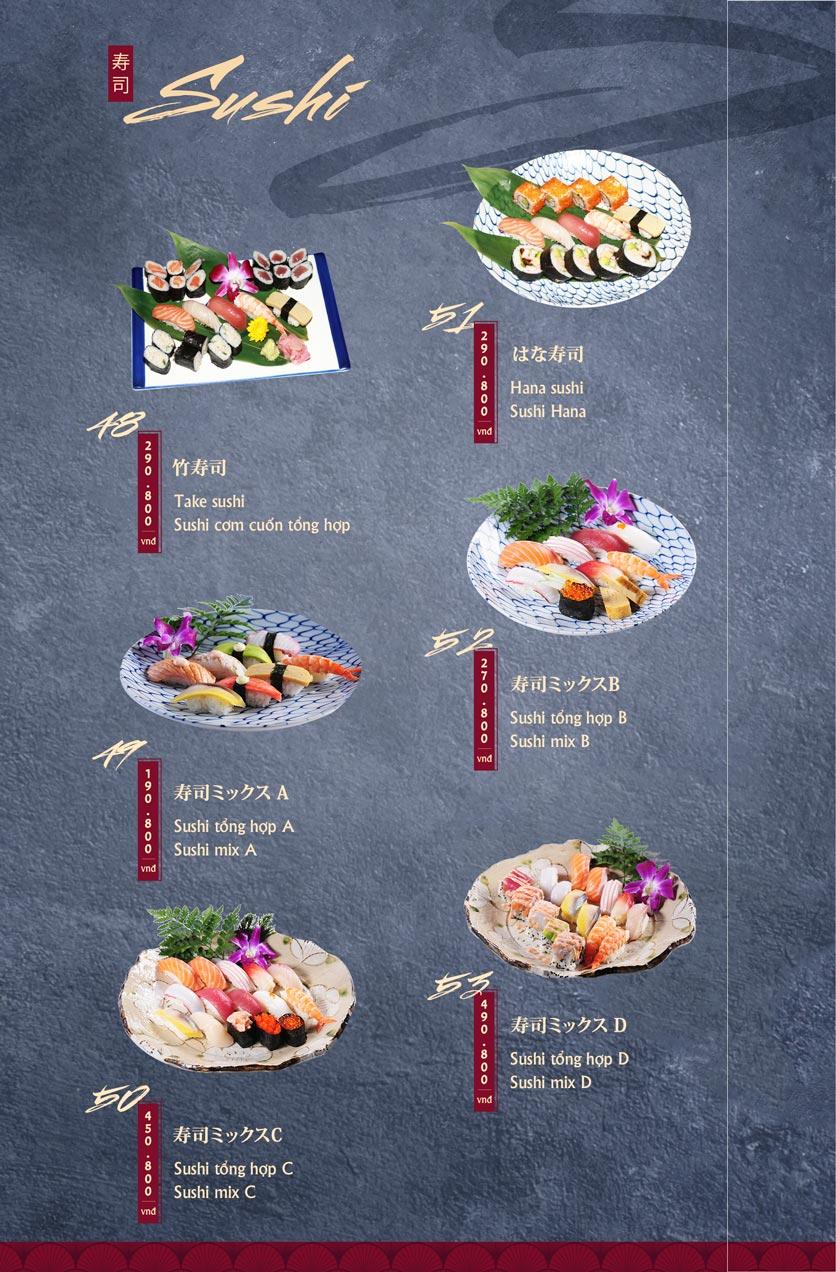 Menu Tamaya Japanese Restaurant - Hai Bà Trưng 13