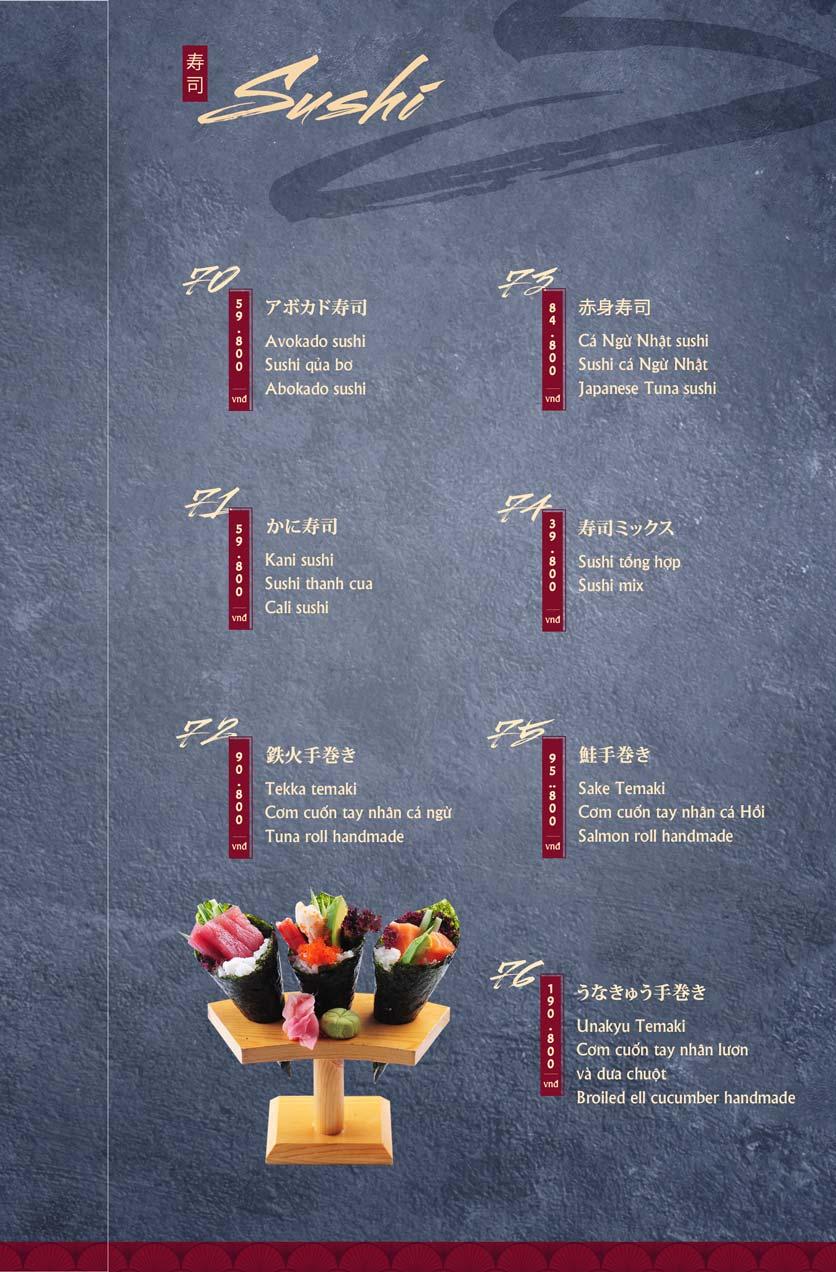 Menu Tamaya Japanese Restaurant - Hai Bà Trưng 16