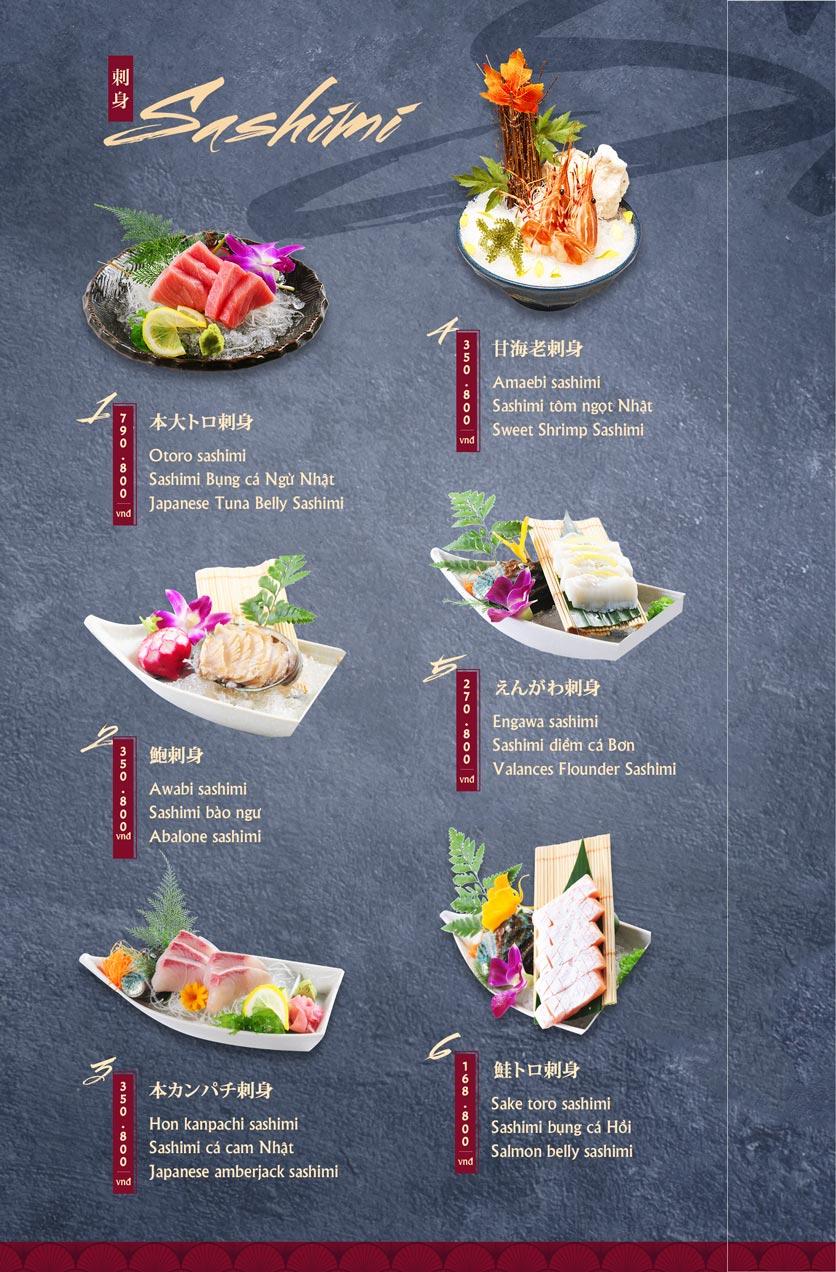 Menu Tamaya Japanese Restaurant - Hai Bà Trưng 2