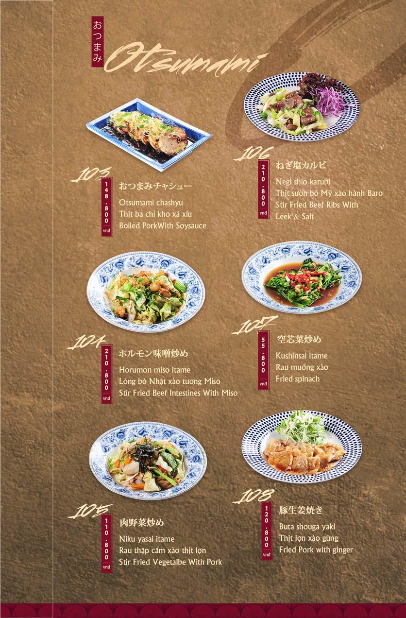 Menu Tamaya Japanese Restaurant - Hai Bà Trưng 24