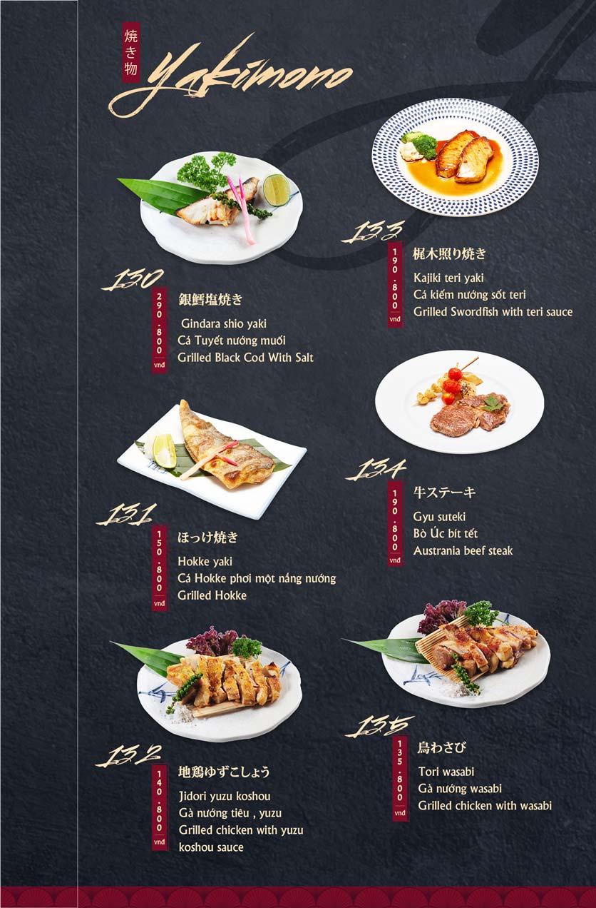 Menu Tamaya Japanese Restaurant - Hai Bà Trưng 29