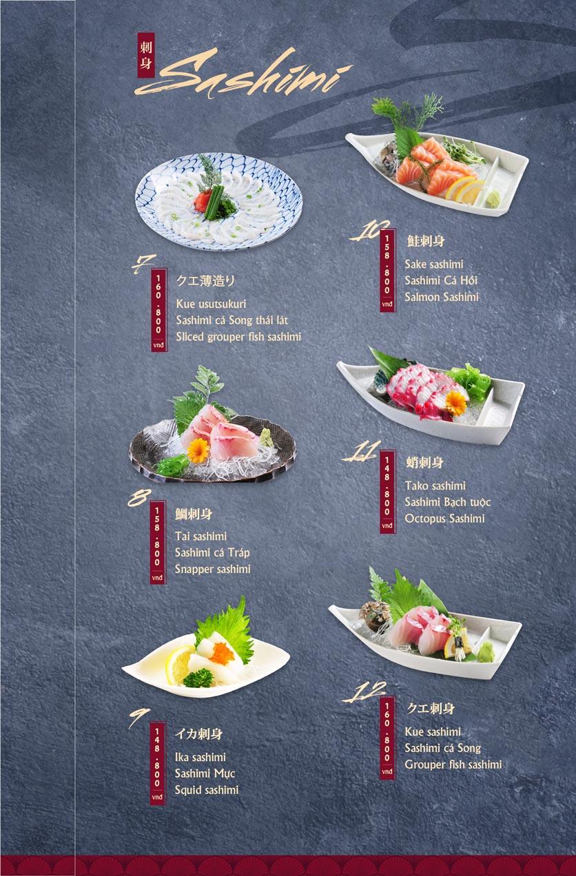 Menu Tamaya Japanese Restaurant - Hai Bà Trưng 3
