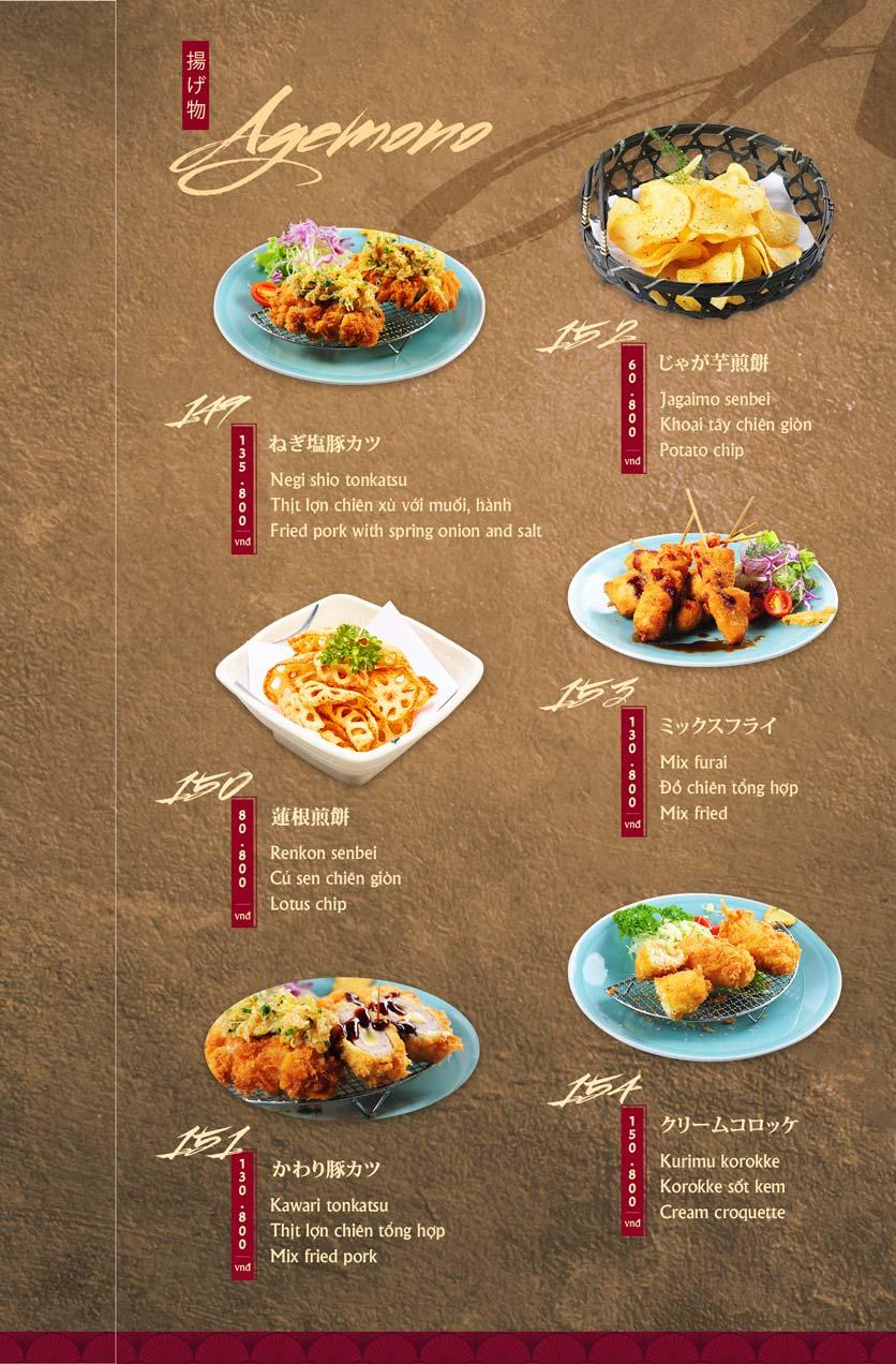 Menu Tamaya Japanese Restaurant - Hai Bà Trưng 34