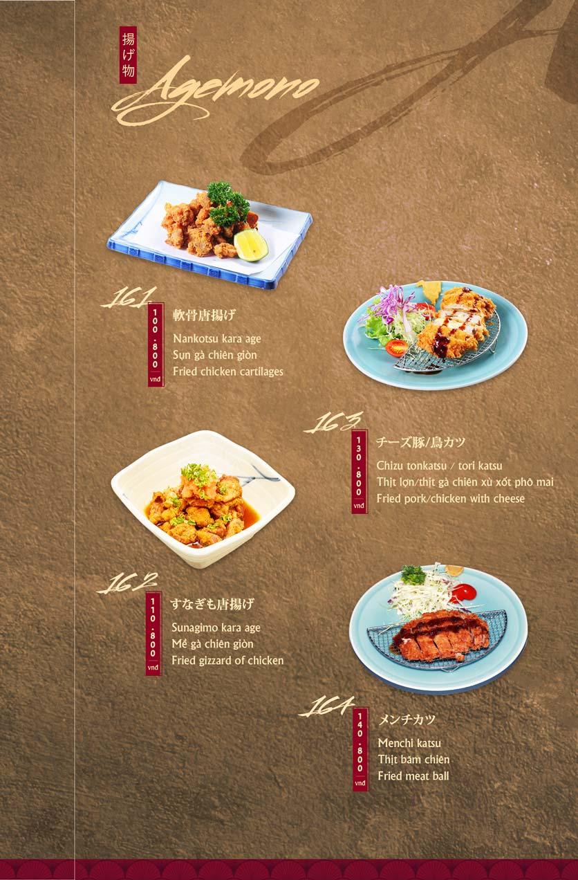 Menu Tamaya Japanese Restaurant - Hai Bà Trưng 35