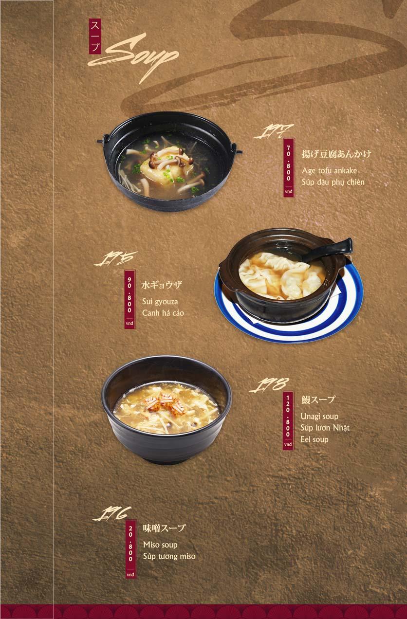 Menu Tamaya Japanese Restaurant - Hai Bà Trưng 42