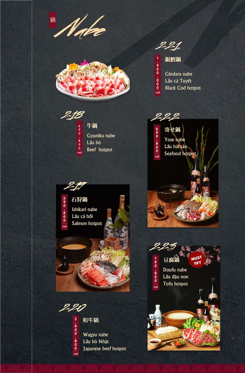 Menu Tamaya Japanese Restaurant - Hai Bà Trưng 47