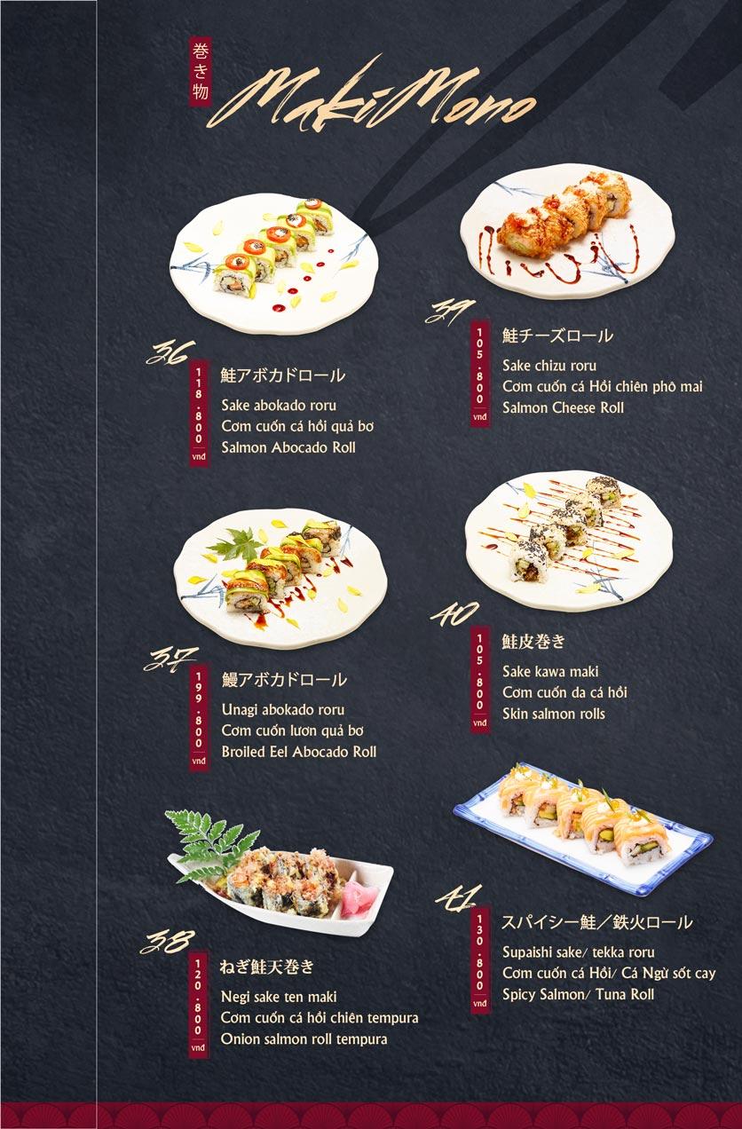 Menu Tamaya Japanese Restaurant - Hai Bà Trưng 9