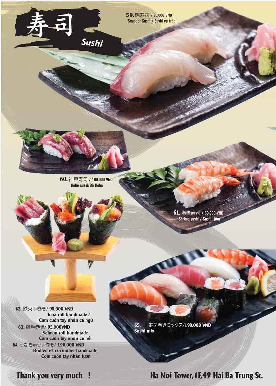 Menu Tamaya Japanese Restaurant - Hai Bà Trưng 14