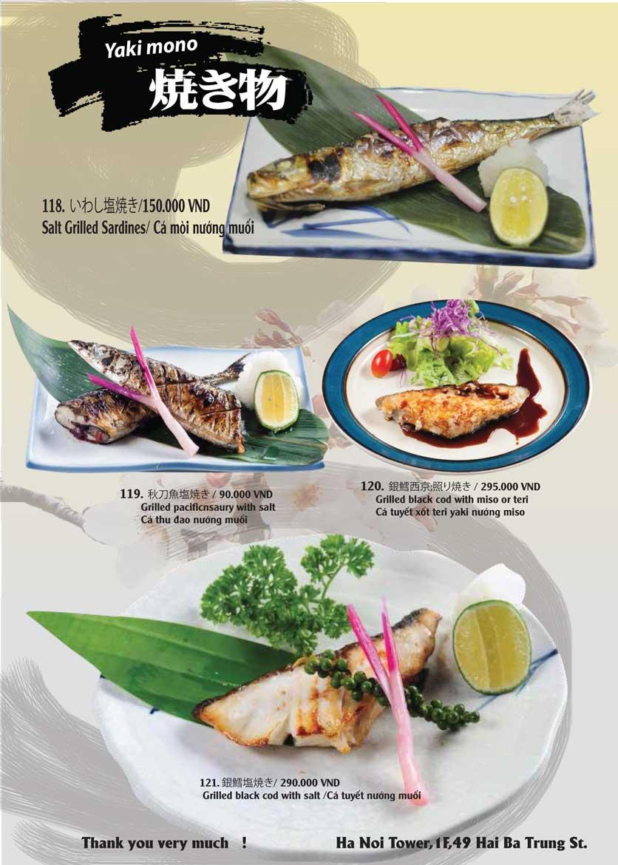 Menu Tamaya Japanese Restaurant - Hai Bà Trưng 27