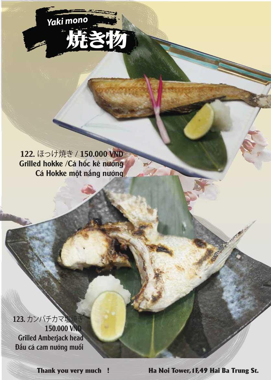 Menu Tamaya Japanese Restaurant - Hai Bà Trưng 28