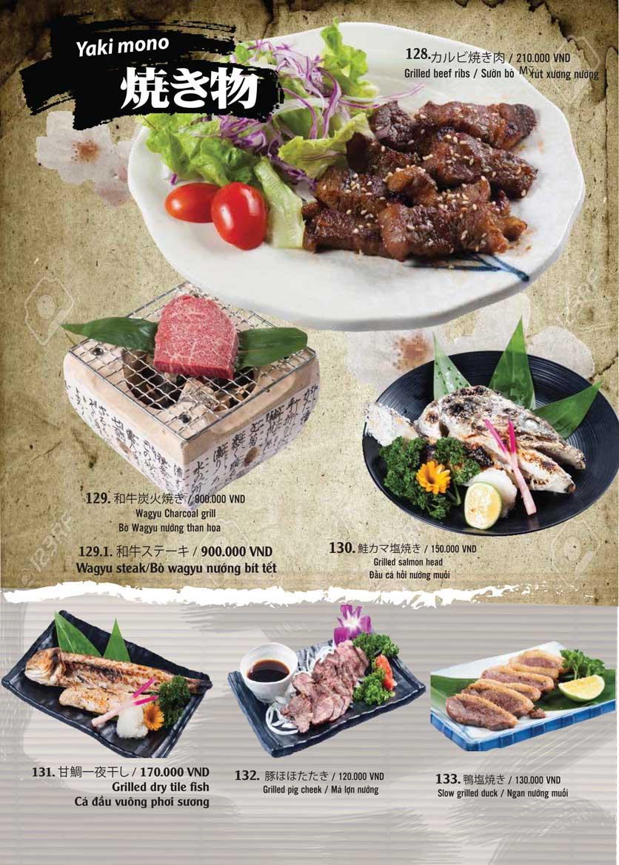 Menu Tamaya Japanese Restaurant - Hai Bà Trưng 30