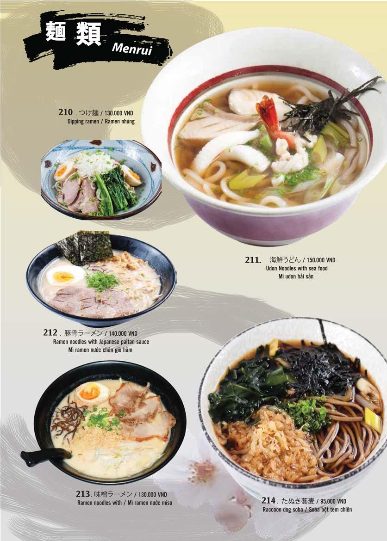 Menu Tamaya Japanese Restaurant - Hai Bà Trưng 45