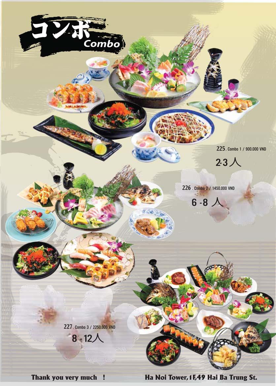 Menu Tamaya Japanese Restaurant - Hai Bà Trưng 48