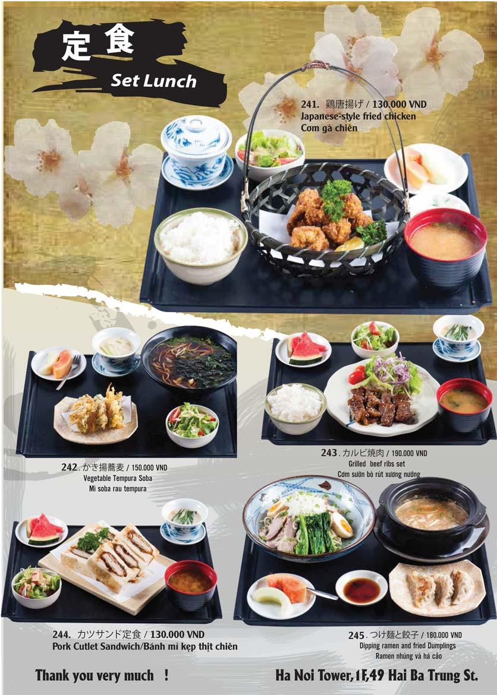Menu Tamaya Japanese Restaurant - Hai Bà Trưng 51