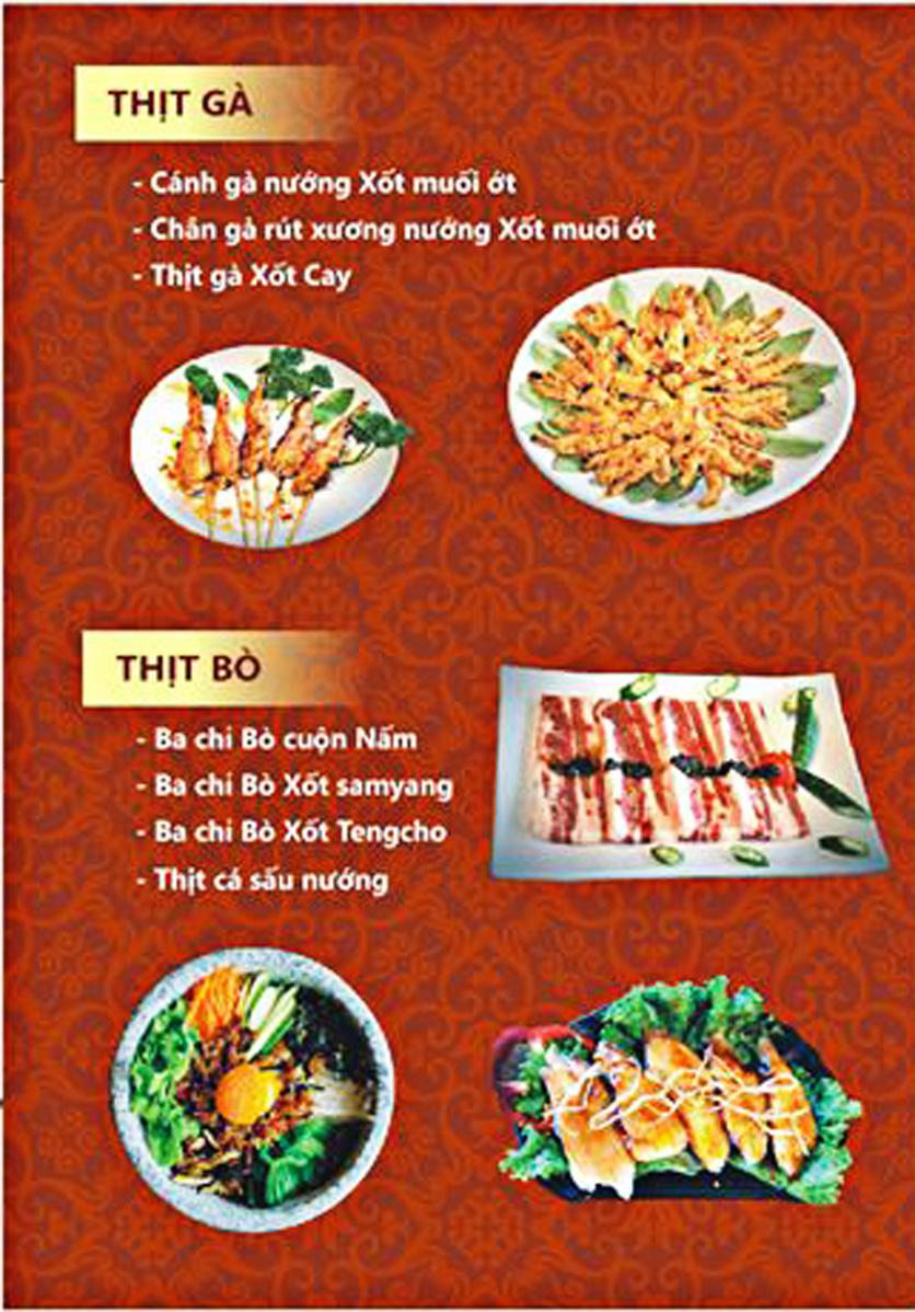 Menu Tengcho BBQ – Linh Đàm 10