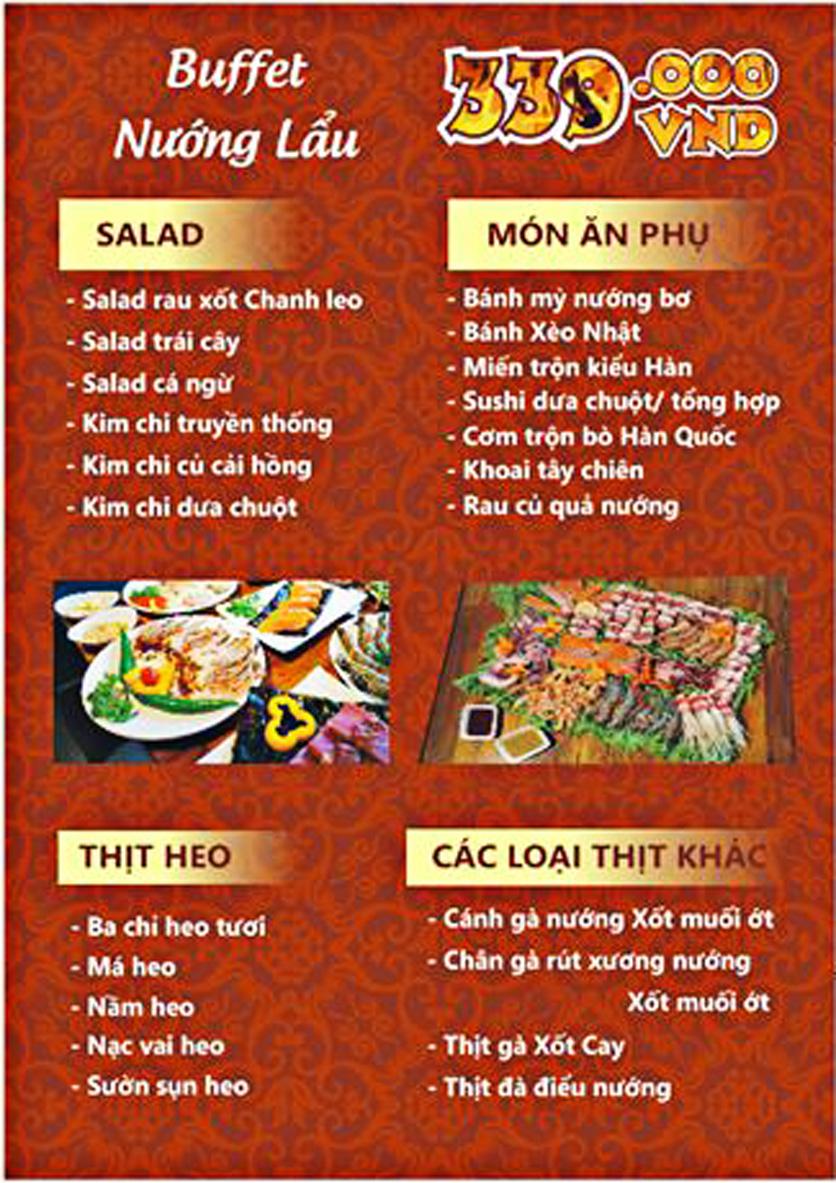 Menu Tengcho BBQ – Linh Đàm 3