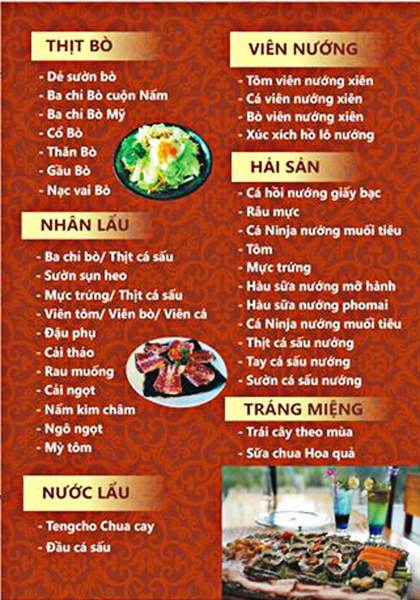 Menu Tengcho BBQ – Linh Đàm 4