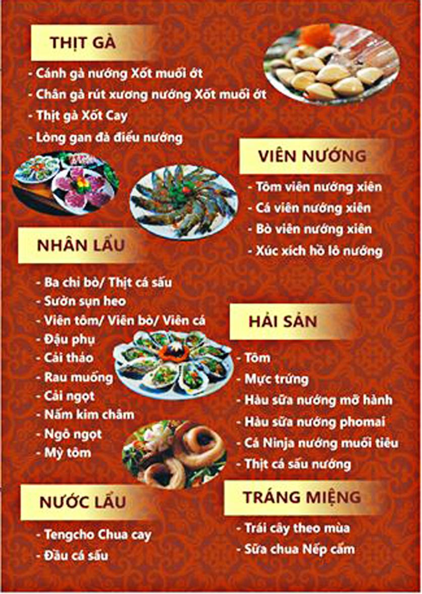 Menu Tengcho BBQ – Linh Đàm 6