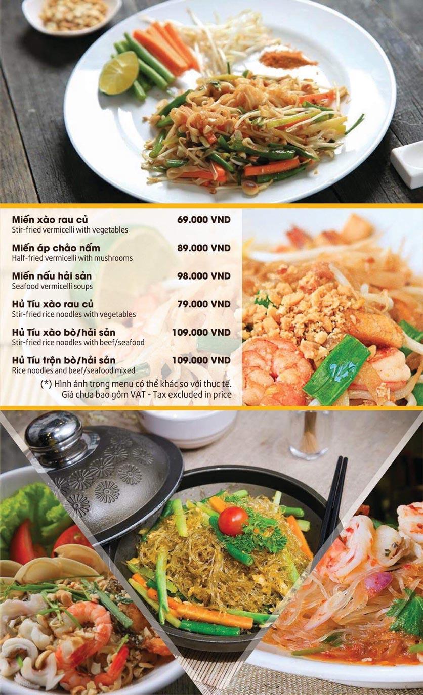 Menu Thai Pattaya  - Láng Hạ 11