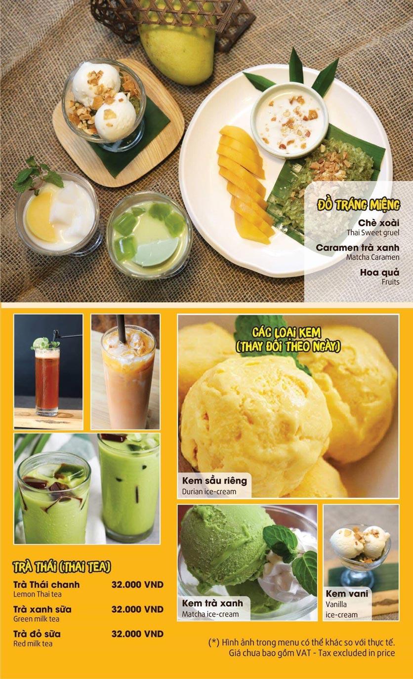 Menu Thai Pattaya  - Láng Hạ 12