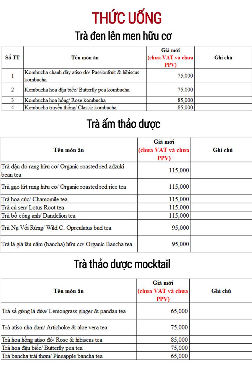 Menu Đậu Đỏ Thuần Chay Việt Nam - Hồ Xuân Hương   5