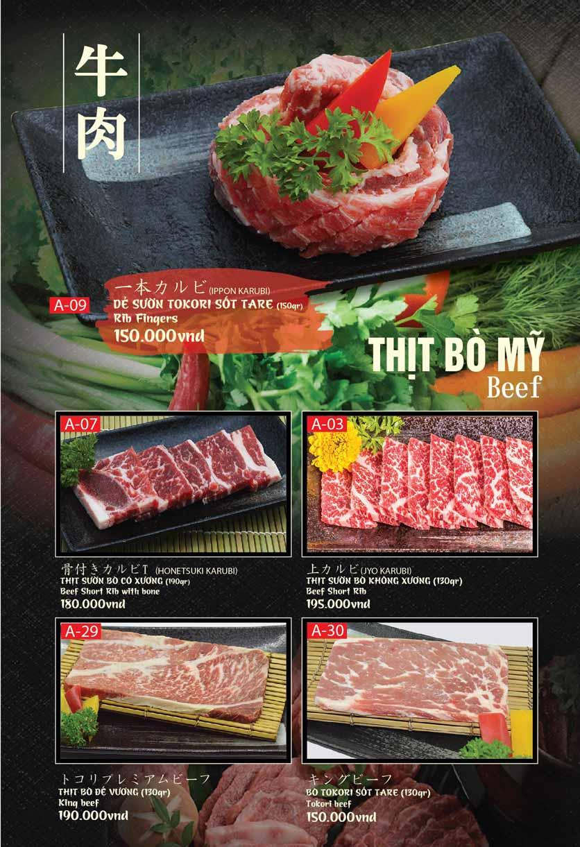 Menu Tokori BBQ - Ngô Quyền 27