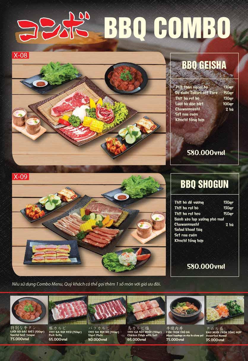 Menu Tokori BBQ - Ngô Quyền 50