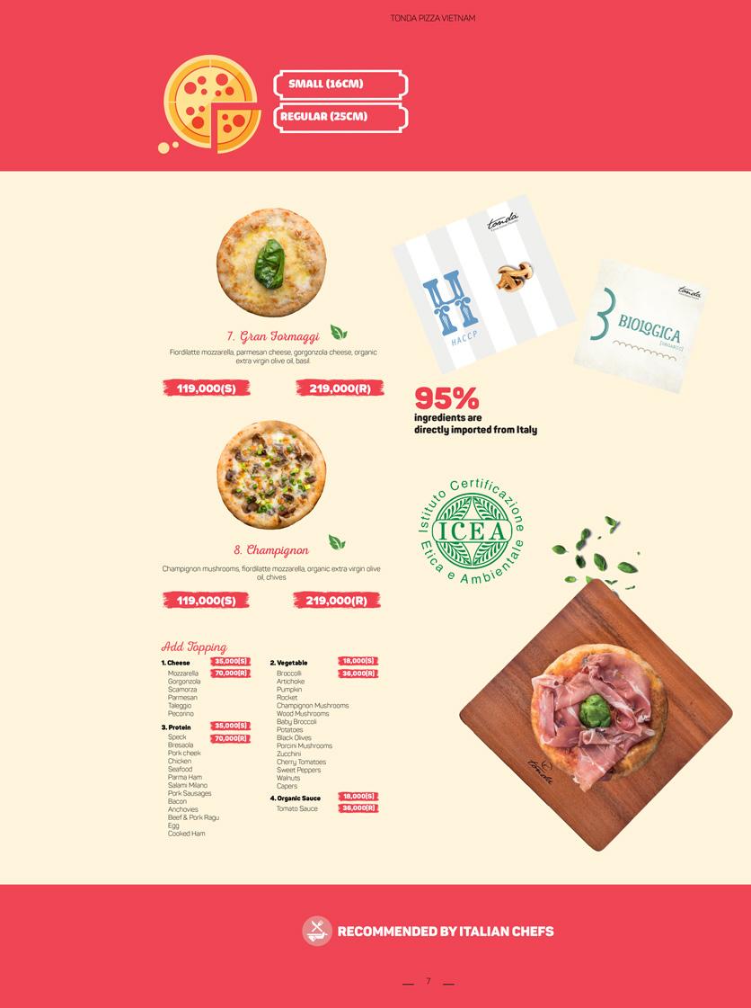 Menu Pizza Tonda - Vincom Thảo Điền 3