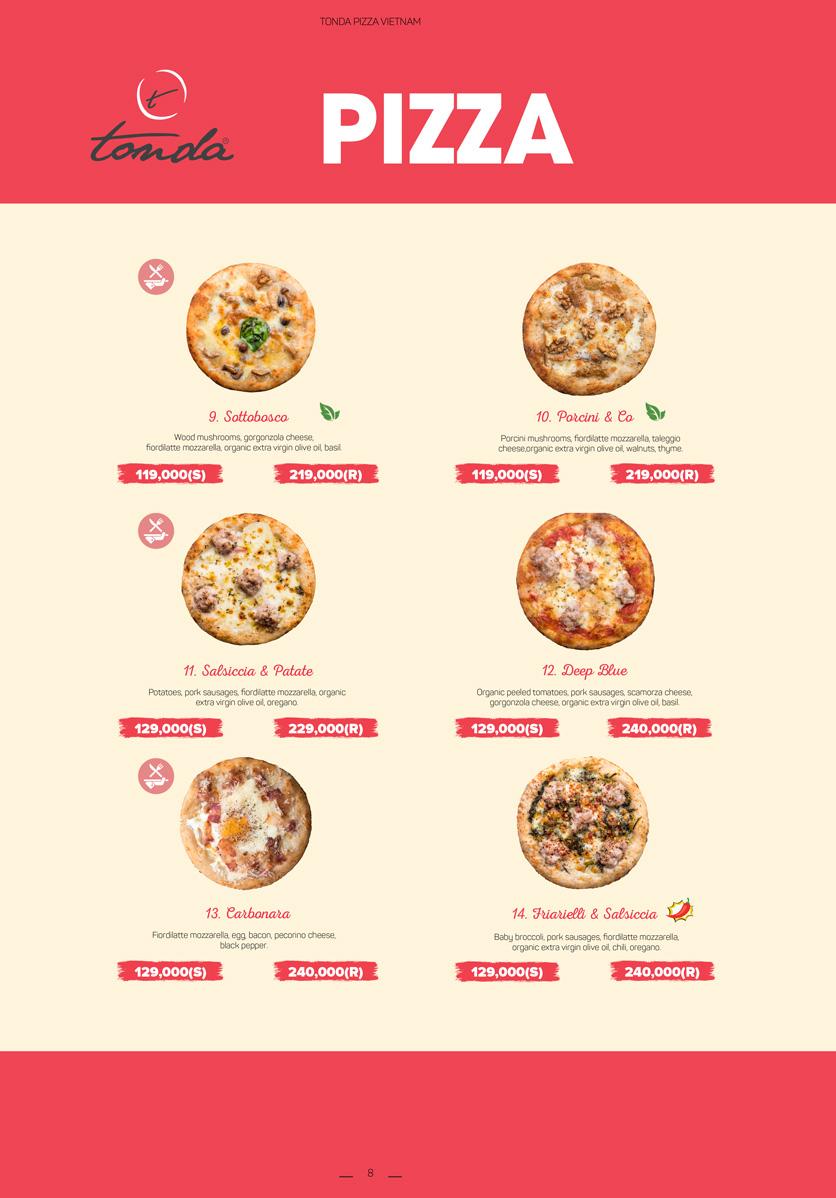 Menu Pizza Tonda - Vincom Thảo Điền 4