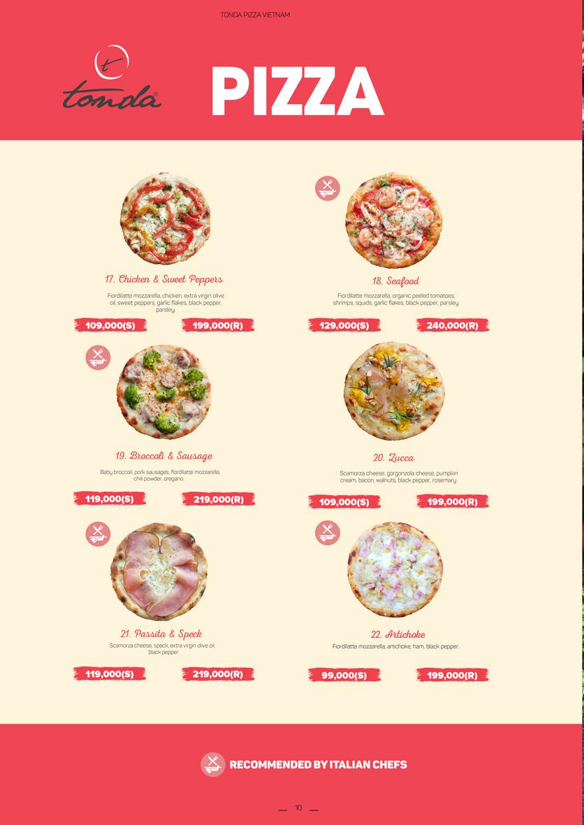 Menu Pizza Tonda - Vincom Thảo Điền 6