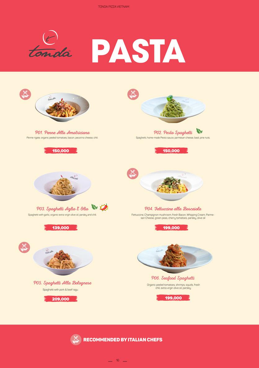Menu Pizza Tonda - Vincom Thảo Điền 9