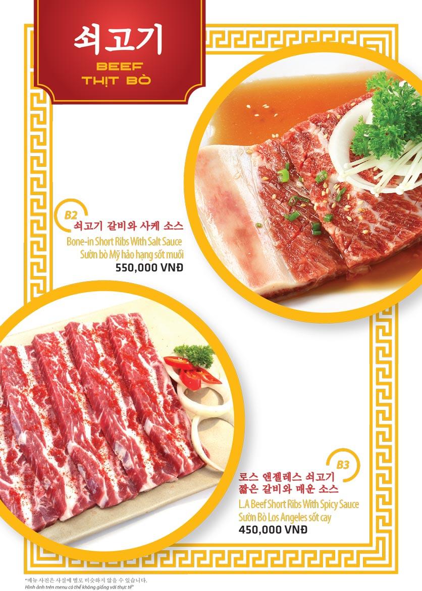 Menu Ulsan BBQ - Thái Văn Lung 2
