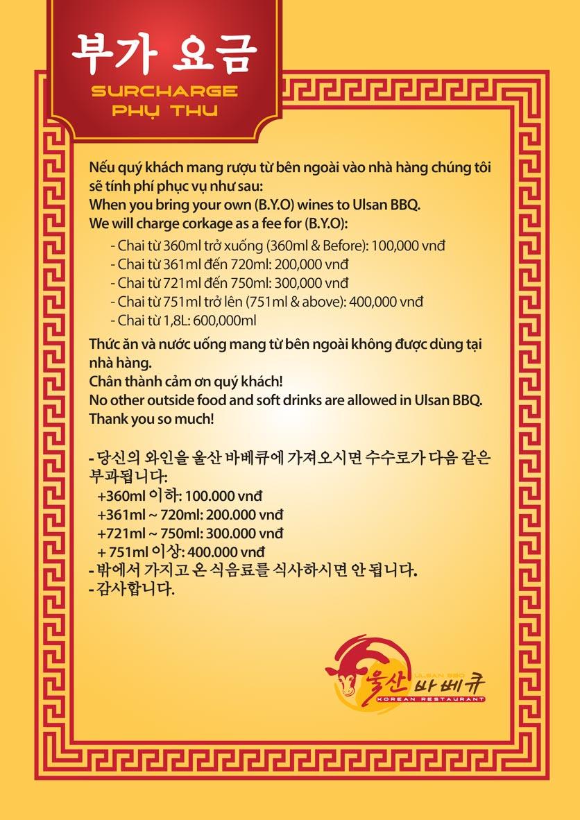 Menu Ulsan BBQ - Thái Văn Lung 21