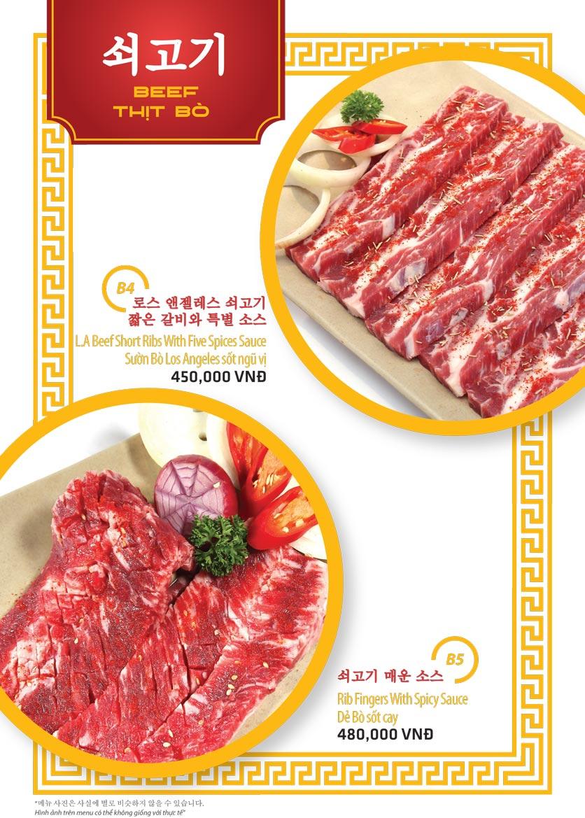 Menu Ulsan BBQ - Thái Văn Lung 3