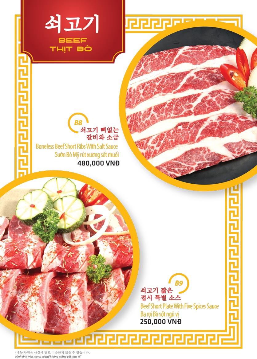 Menu Ulsan BBQ - Thái Văn Lung 5